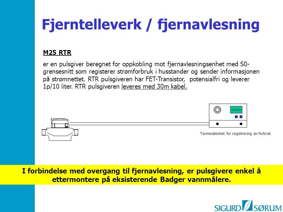 M25 RTR er en pulsgiver beregnet for oppkobling mot fjernavlesningsenhet med S0- grensesnitt som registerer strømforbruk i husstander og sender inform