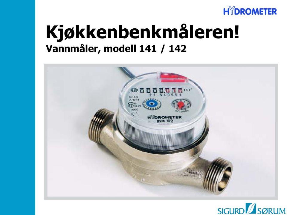 Kjøkkenbenkmåleren! Vannmåler, modell 141 / 142