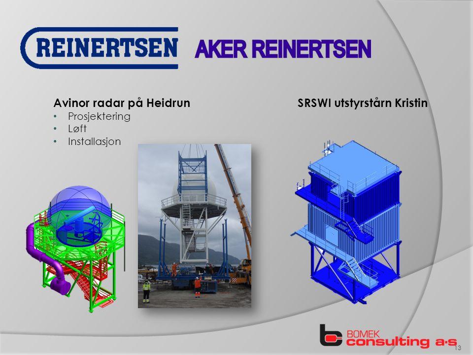 Avinor radar på Heidrun Prosjektering Løft Installasjon SRSWI utstyrstårn Kristin 13