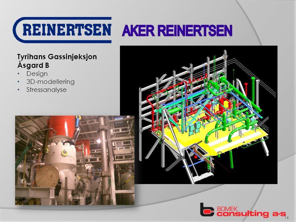 14 Tyrihans Gassinjeksjon Åsgard B Design 3D-modellering Stressanalyse