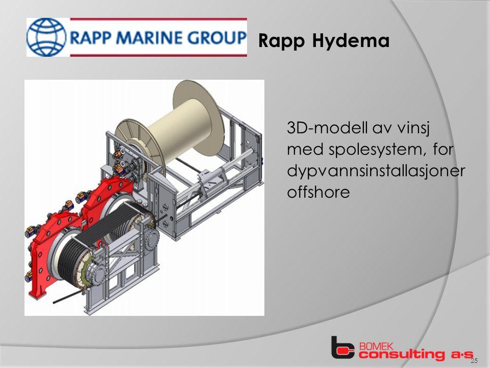 Rapp Hydema 3D-modell av vinsj med spolesystem, for dypvannsinstallasjoner offshore 25