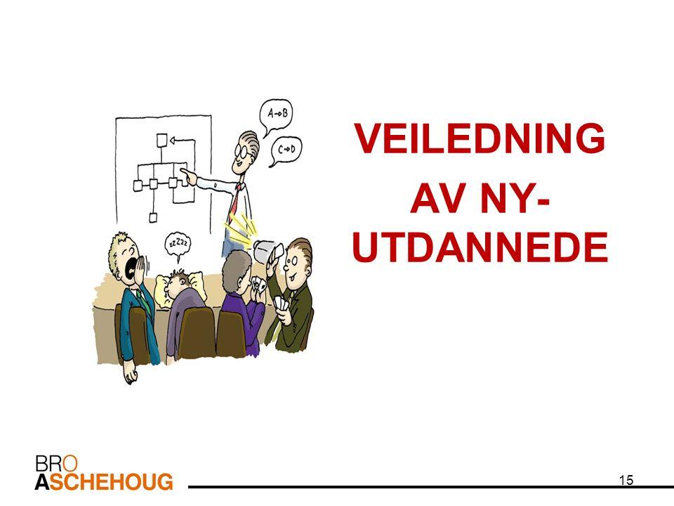 15 VEILEDNING AV NY- UTDANNEDE