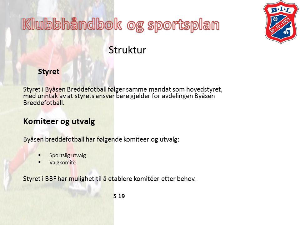 Struktur Styret Styret i Byåsen Breddefotball følger samme mandat som hovedstyret, med unntak av at styrets ansvar bare gjelder for avdelingen Byåsen Breddefotball.