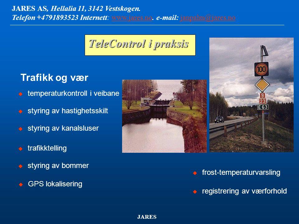 JARES AS, Hellalia 11, 3142 Vestskogen.Telefon +4791893523 Internett: www.jares.no.