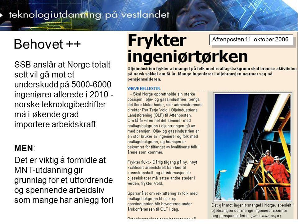 Realfag, teknologi og samfunn Det er et paradoks at norske ungdommer er blant de fremste til å ta i bruk ny teknologi, men ikke har et tilsvarende ønske om å delta yrkesmessig En seiglivet myte om at realfag er vanskelig, skremmer mange som er godt utrustet nettopp for dette Det finnes langt flere barn og ungdom som har anlegg for realfag og teknologi, enn de som velger det Familie og venner er viktigste informasjonskilde når ungdom velger utdanning, dernest internett