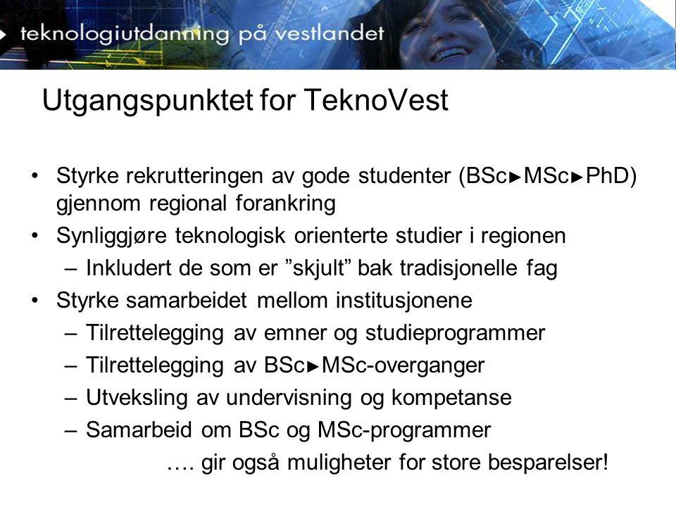 Markedsføring og formidling Håndteres av formidlingsgruppen: –Egen webportal: www.teknovest.nowww.teknovest.no –Egen brosjyre/ katalog.