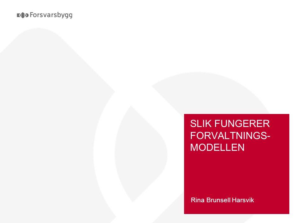 SLIK FUNGERER FORVALTNINGS- MODELLEN Rina Brunsell Harsvik