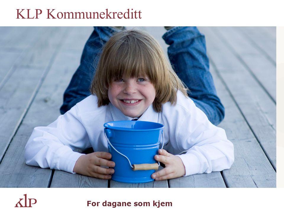 KLP Kommunekreditt For dagane som kjem