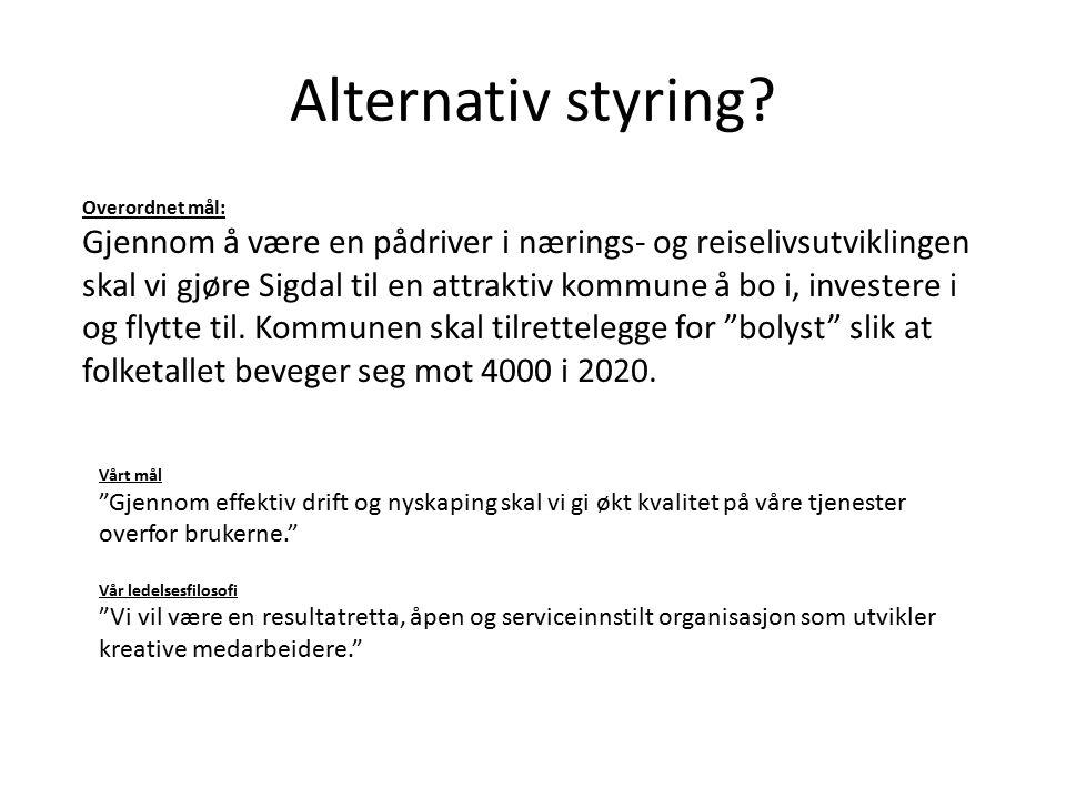 Alternativ styring.