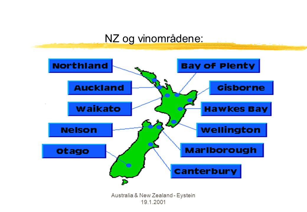 Australia & New Zealand - Eystein 19.1.2001 NZ og vinområdene: