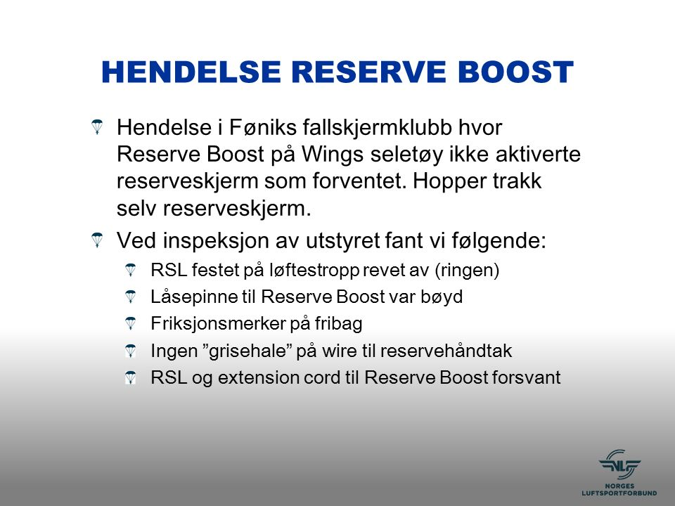 HENDELSE RESERVE BOOST