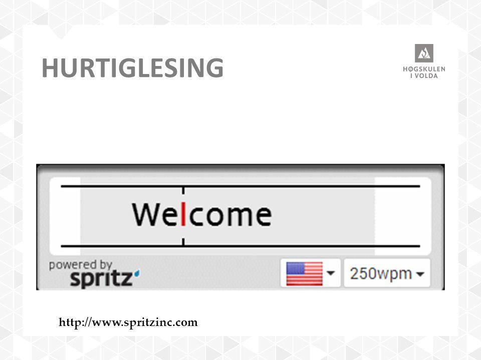 HURTIGLESING http://www.spritzinc.com