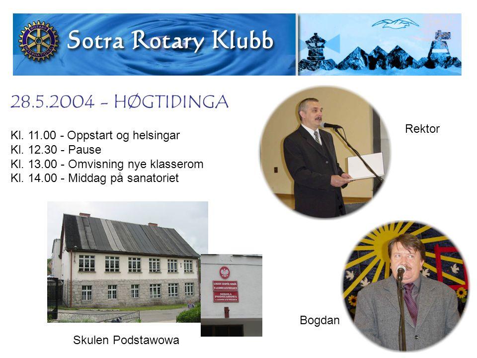 28.5.2004 - HØGTIDINGA Kl. 11.00 - Oppstart og helsingar Kl.