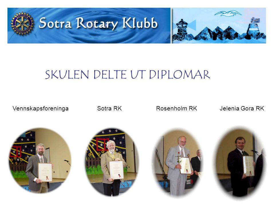 Vennskapsforeninga Sotra RK Rosenholm RK Jelenia Gora RK SKULEN DELTE UT DIPLOMAR