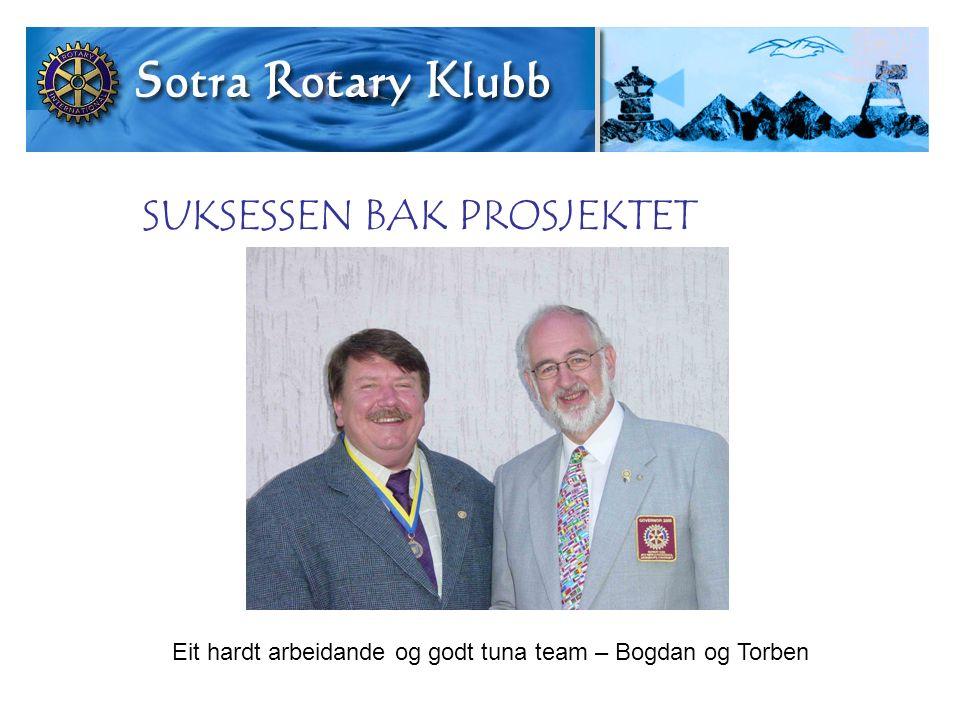 SUKSESSEN BAK PROSJEKTET Eit hardt arbeidande og godt tuna team – Bogdan og Torben