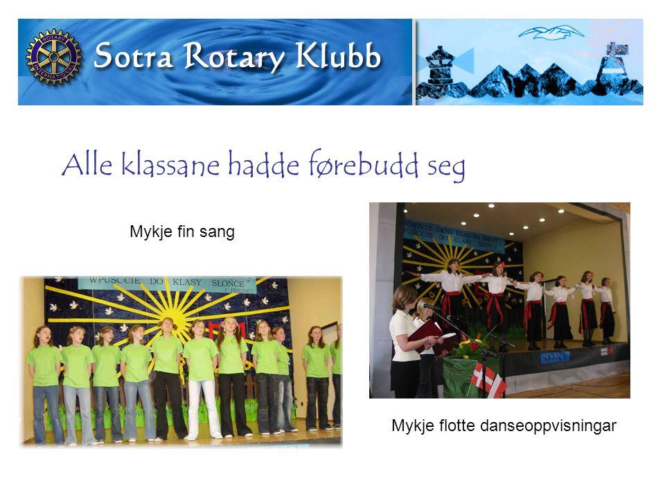 Alle klassane hadde førebudd seg Mykje fin sang Mykje flotte danseoppvisningar
