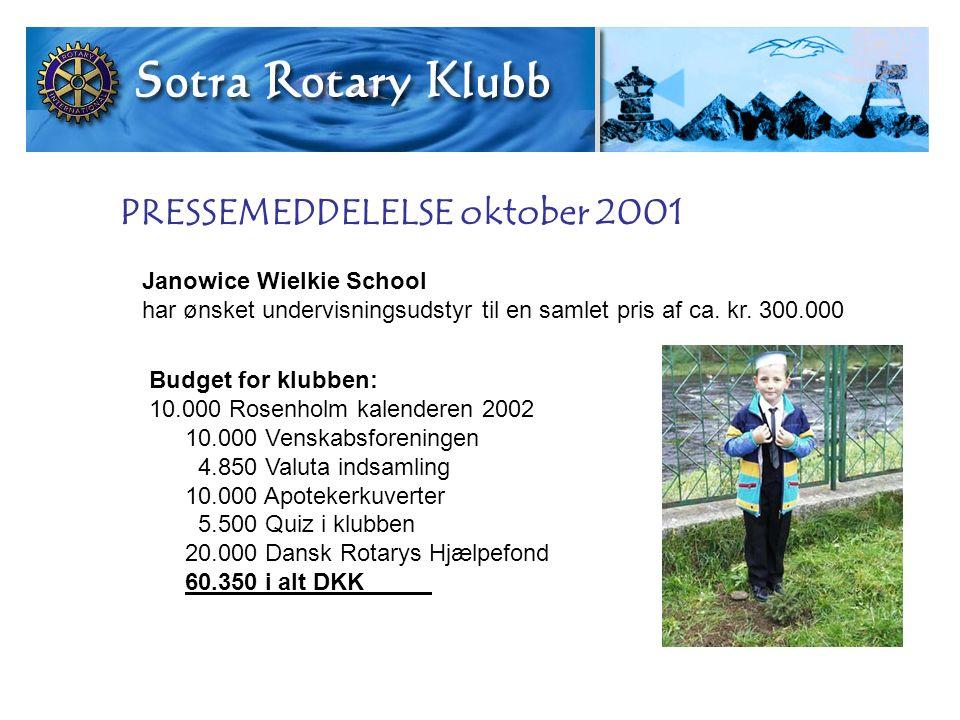 Janowice Wielkie School har ønsket undervisningsudstyr til en samlet pris af ca.