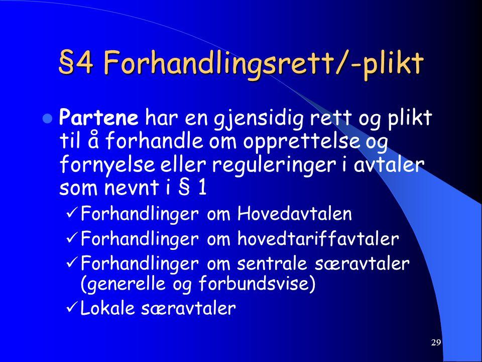 28 Definisjoner i Hovedavtalen Arbeidsgiver, HA delB, §2-1 Tillitsvalgt, HA del B, § 2-2 Hovedtillitsvalgt, HA del B, § 2-3 Fellestillitsvalgt, HA del