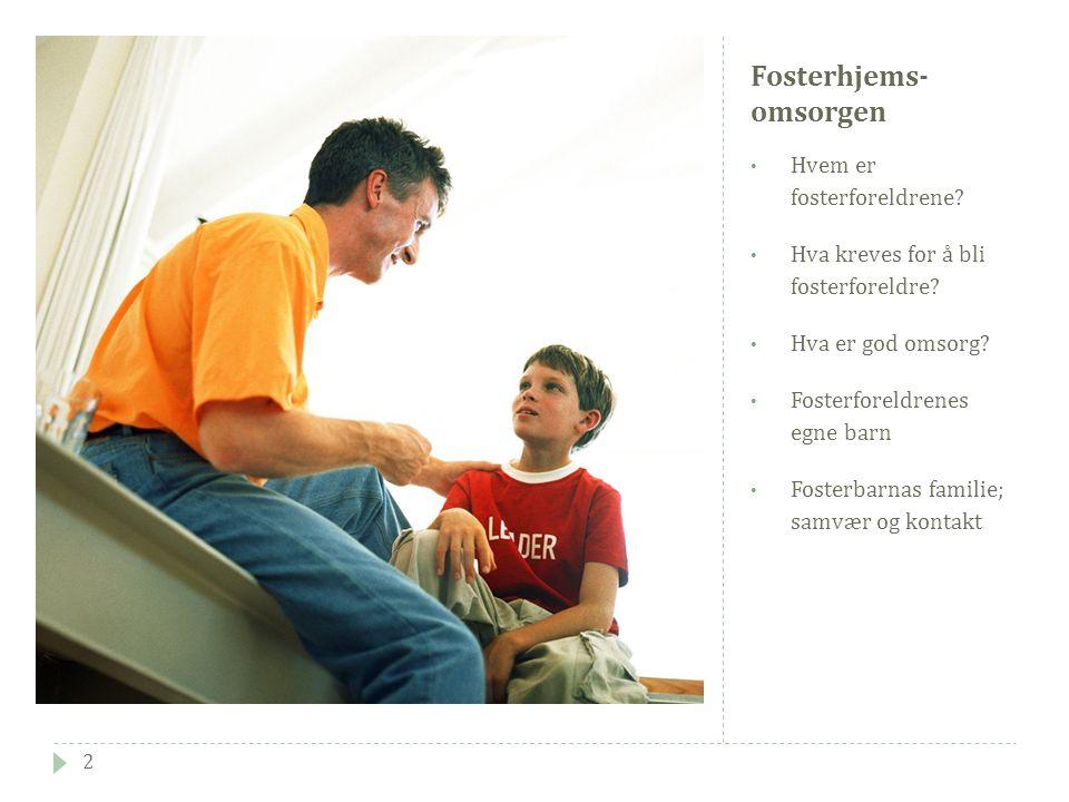 Oppdragelsesmetoder 13  Handlemåter som styres av en mer overordnet forståelse av barnet.