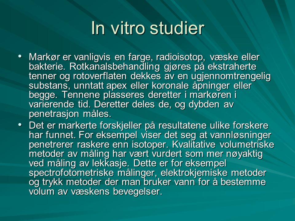 In vitro studier Markør er vanligvis en farge, radioisotop, væske eller bakterie.