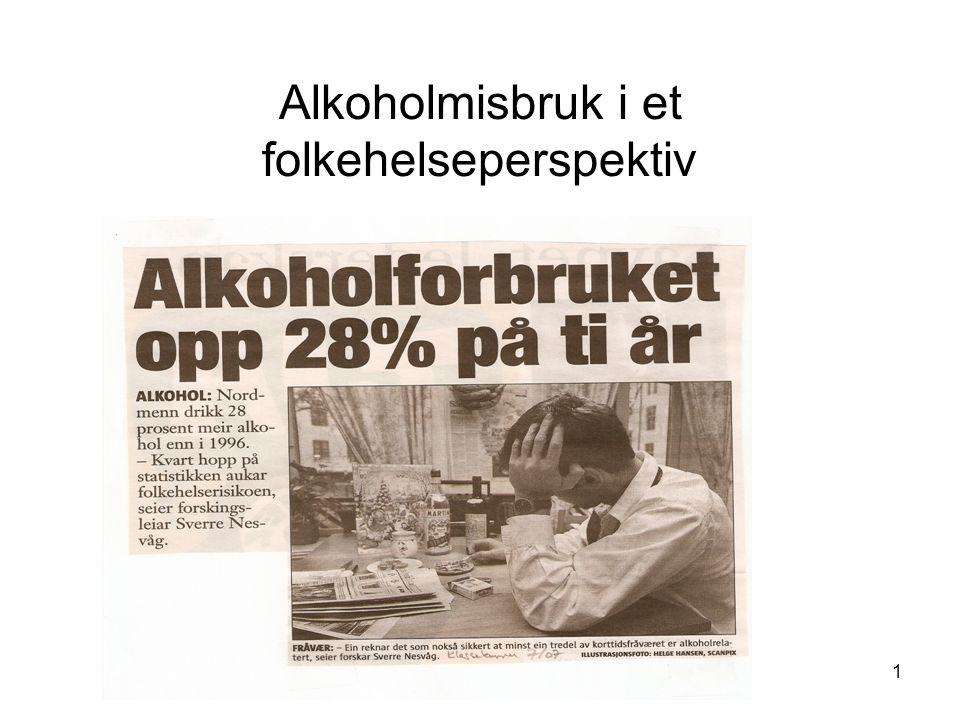 1 Alkoholmisbruk i et folkehelseperspektiv
