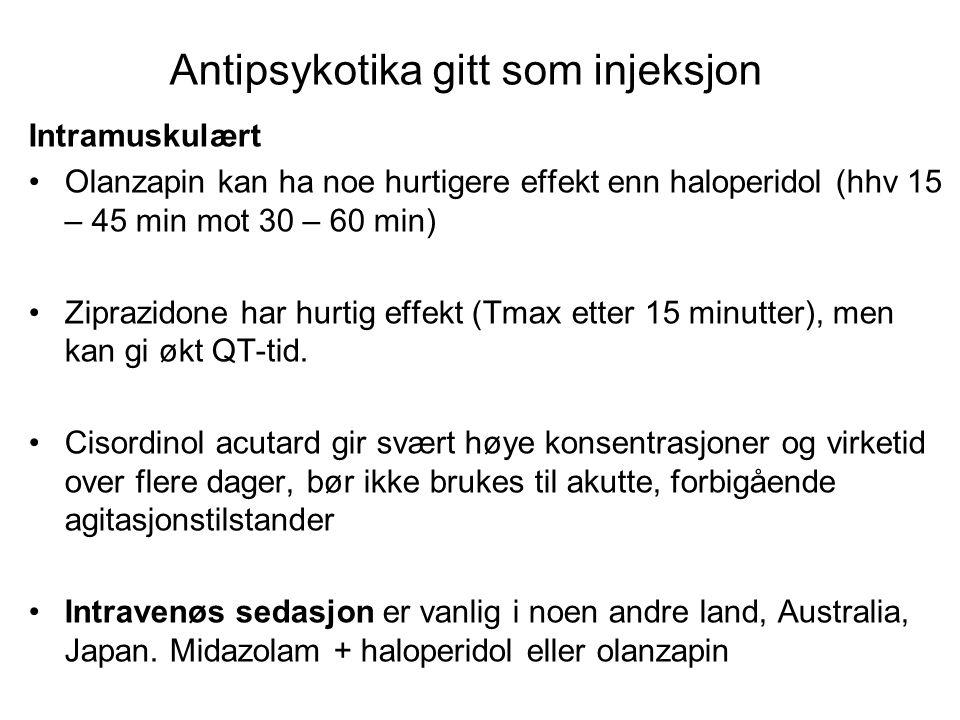Intravenøs sedasjon Benzodiazepiner aleine Midazolam Lorazepam Diazepam.