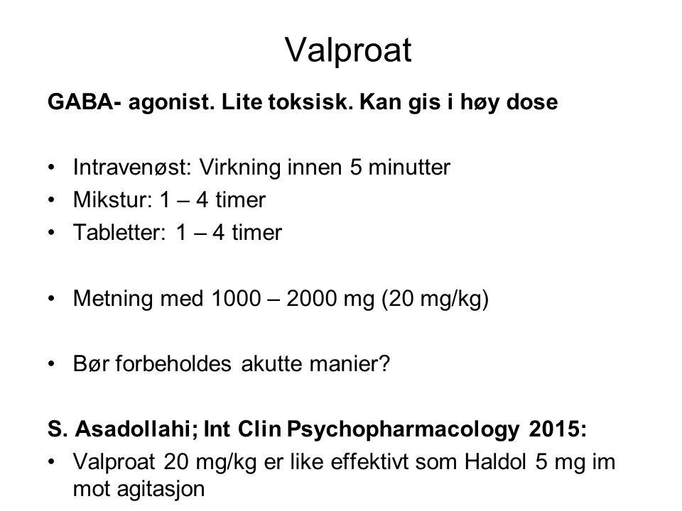 Loksapin Mellomdose nevroleptikum Mindre tendens til EPS enn haloperidol/perfenazin Lite tendens til hypotensjon, mildt sederende Dosering (peroral) ved psykoser: 30 – 250 mg (rundt 1990)