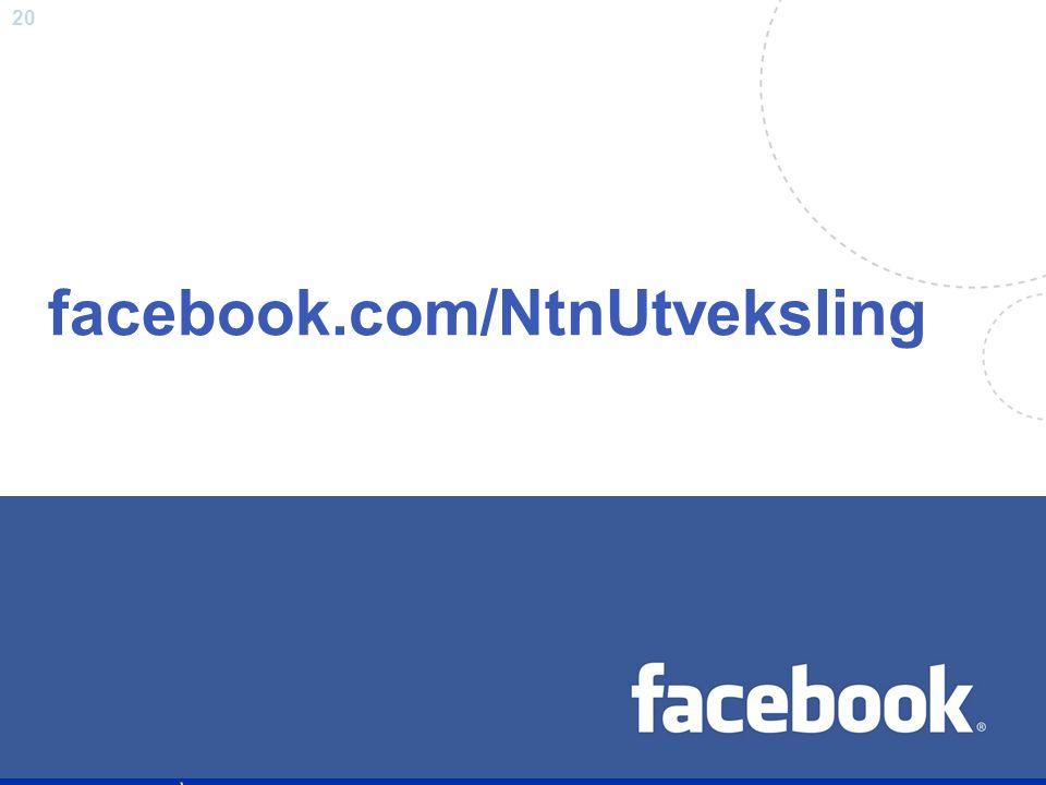 20 facebook.com/NtnUtveksling