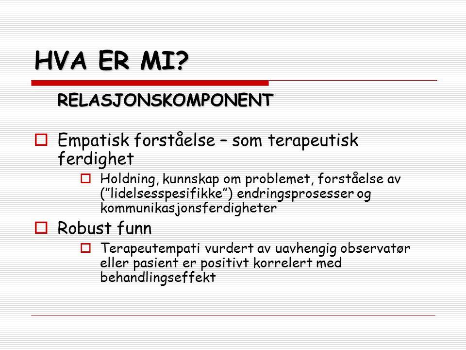 KLAR FOR ENDRING – FASE II  INFORMASJON, BEKYMRING & RÅD Bruk klientens eget språk og uttrykk.