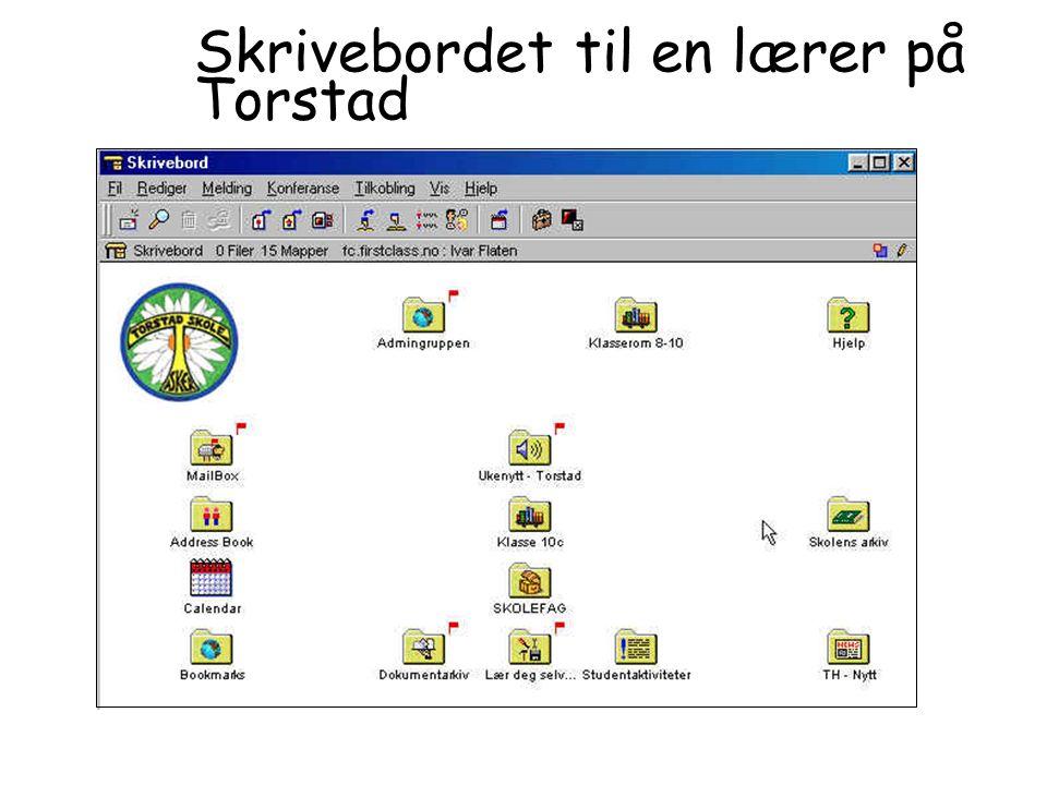 Skrivebordet til en lærer på Torstad