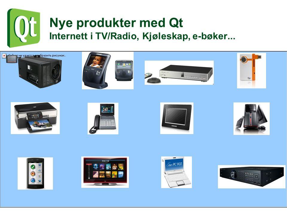 Nye produkter med Qt Internett i TV/Radio, Kjøleskap, e-bøker...