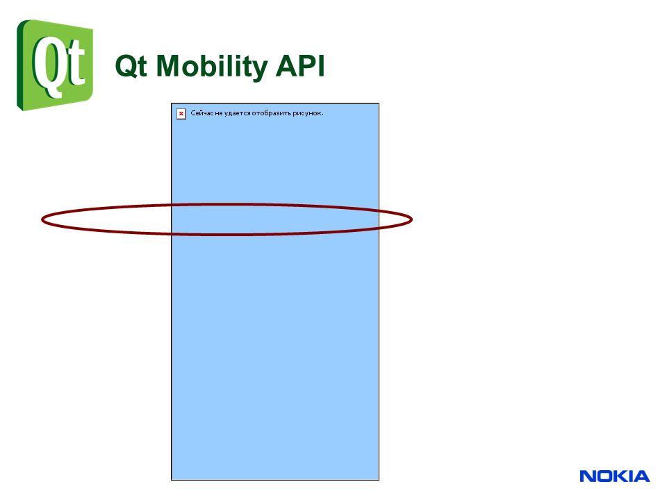 Qt Mobility API
