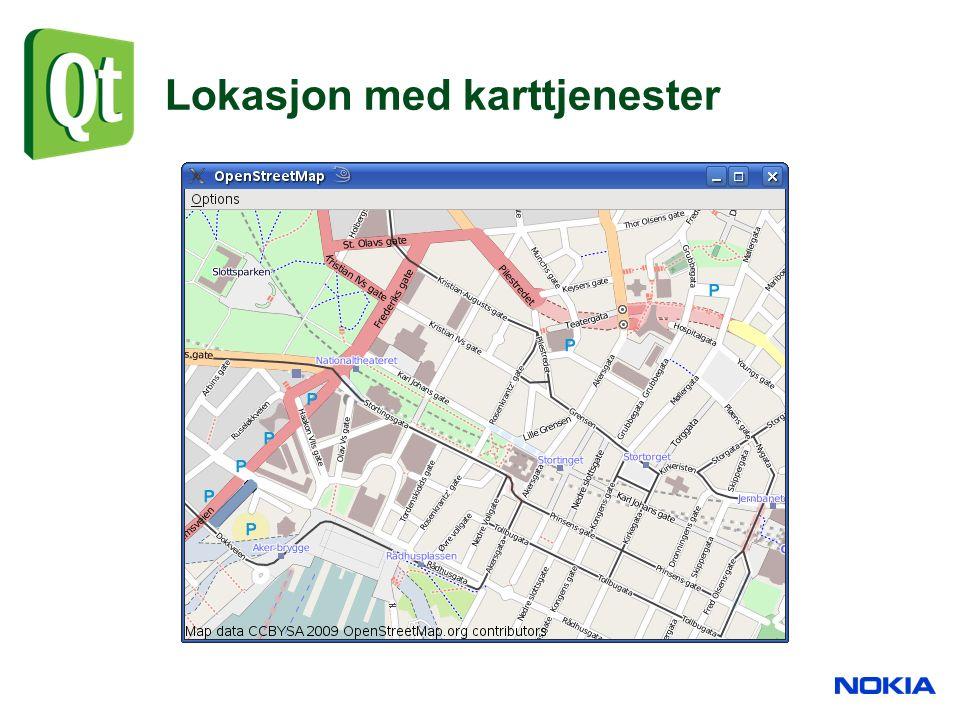 Lokasjon med karttjenester