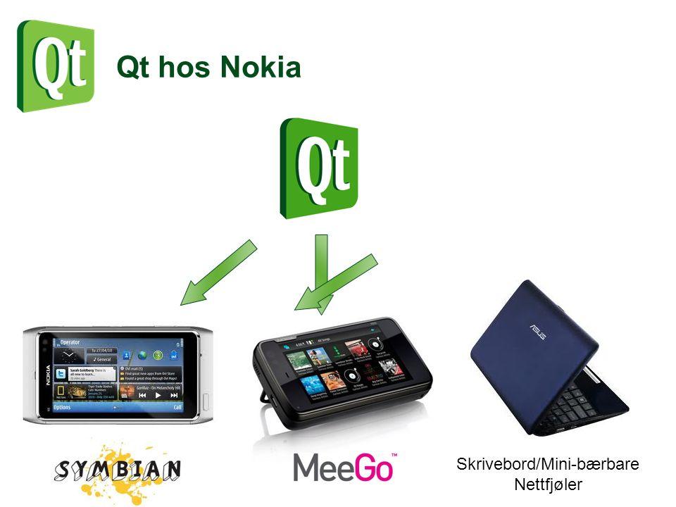 Qt hos Nokia Skrivebord/Mini-bærbare Nettfjøler