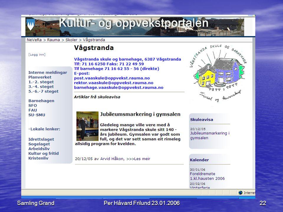 Samling GrandPer Håvard Frilund 23.01.200622