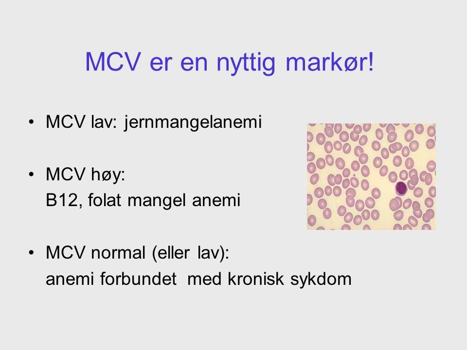 MCV er en nyttig markør.