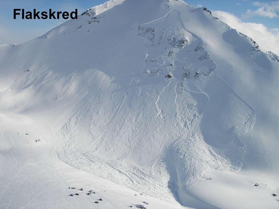 Norges vassdrags- og energidirektorat Utløsningsområde Skredbane Utløpsområde Flakskred