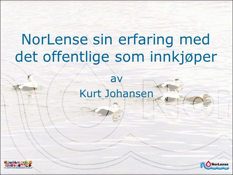 NorLense sin erfaring med det offentlige som innkjøper av Kurt Johansen