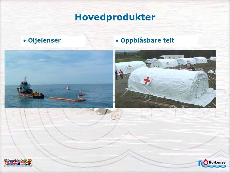 Hovedprodukter Oljelenser Oppblåsbare telt