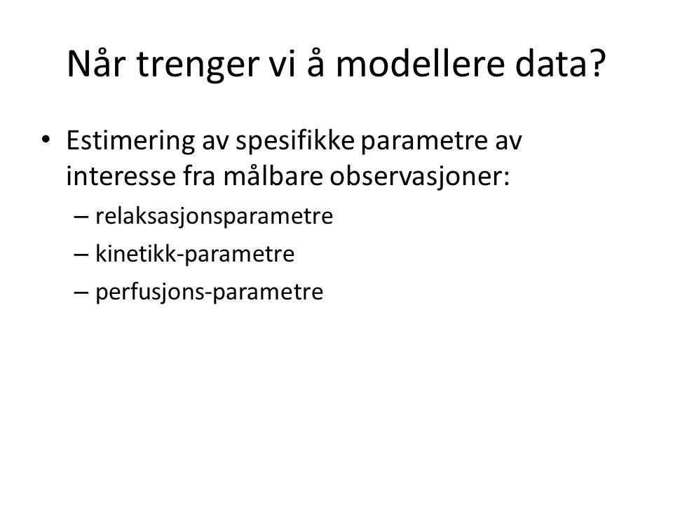 Når trenger vi å modellere data.