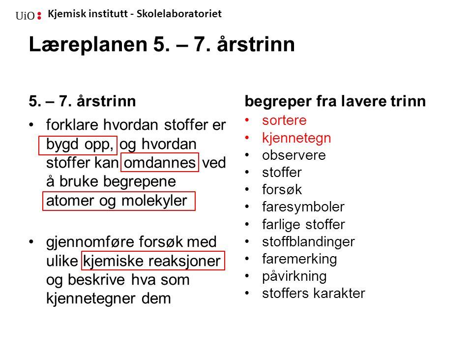 Kjemisk institutt - Skolelaboratoriet Sortere seks væsker Hensikt Hensikten er å lære om sortering.