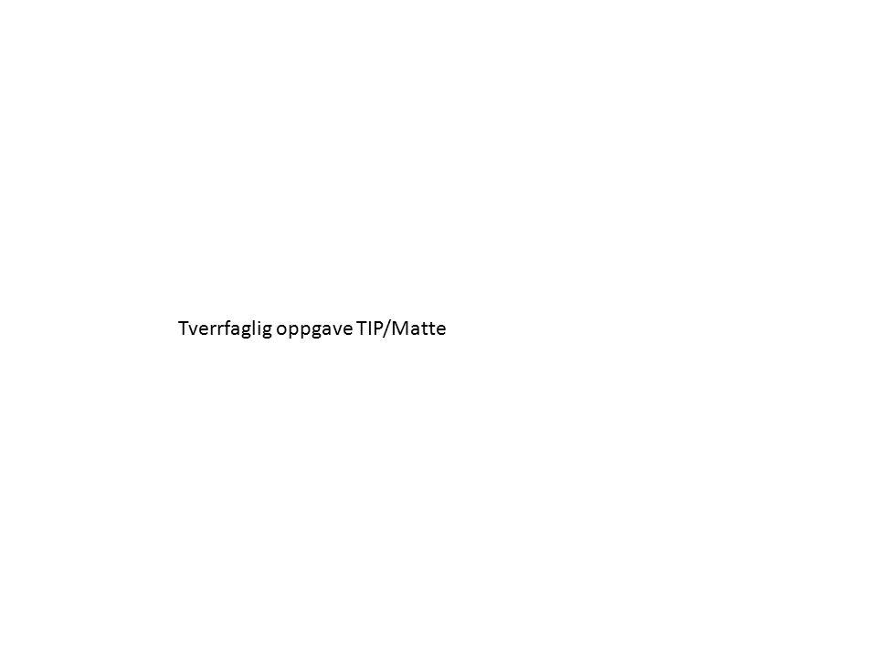 Tverrfaglig oppgave TIP/Matte