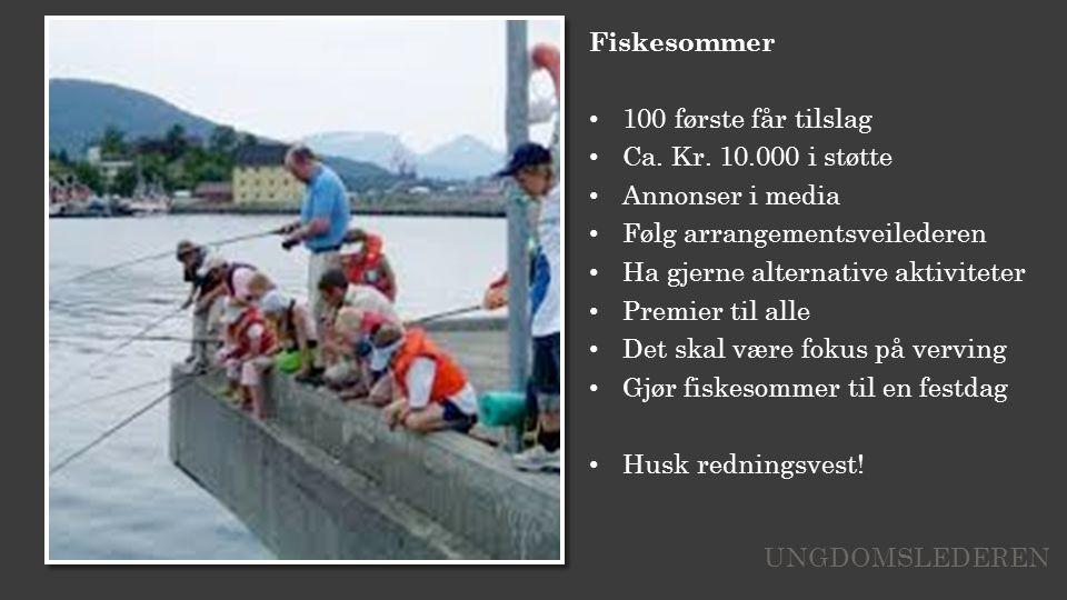 Fiskesommer 100 første får tilslag Ca. Kr.