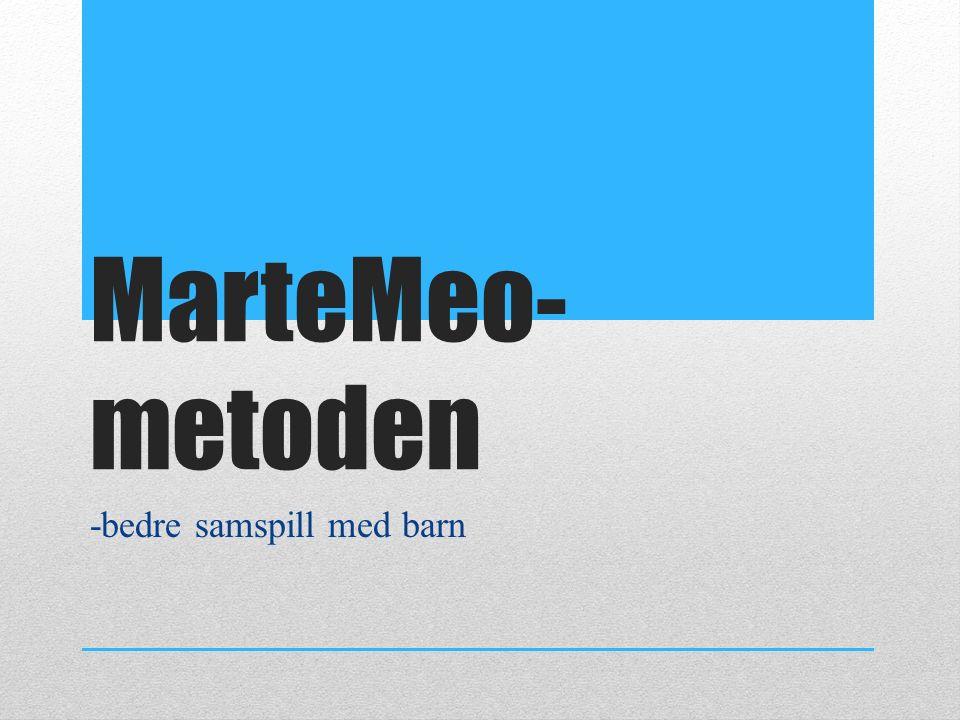 MarteMeo- metoden -bedre samspill med barn