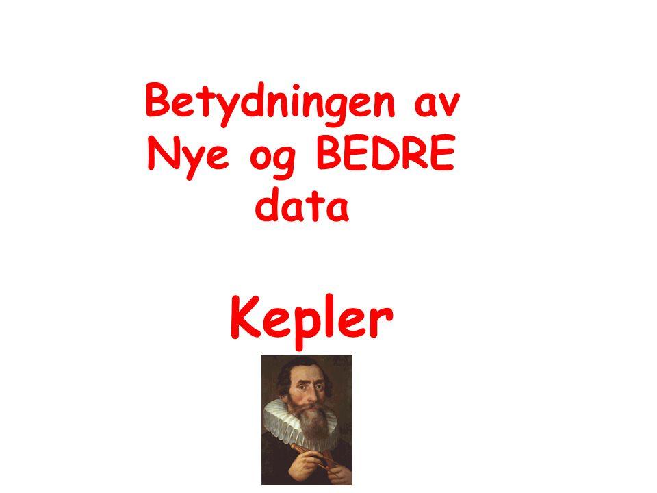 Betydningen av Nye og BEDRE data Kepler