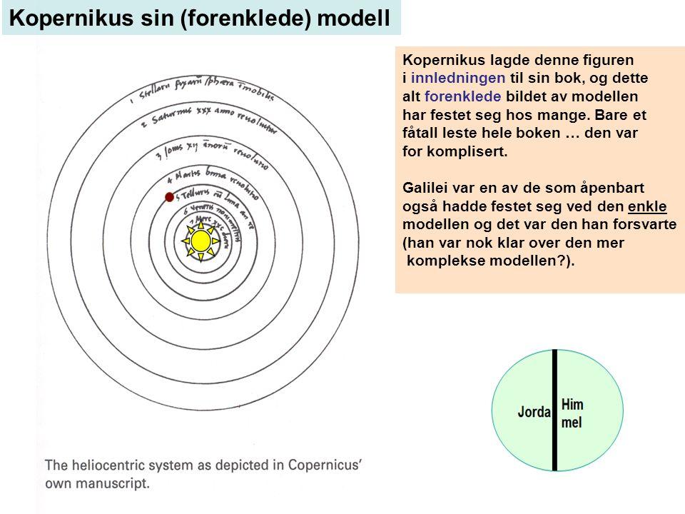 Kopernikus lagde denne figuren i innledningen til sin bok, og dette alt forenklede bildet av modellen har festet seg hos mange.