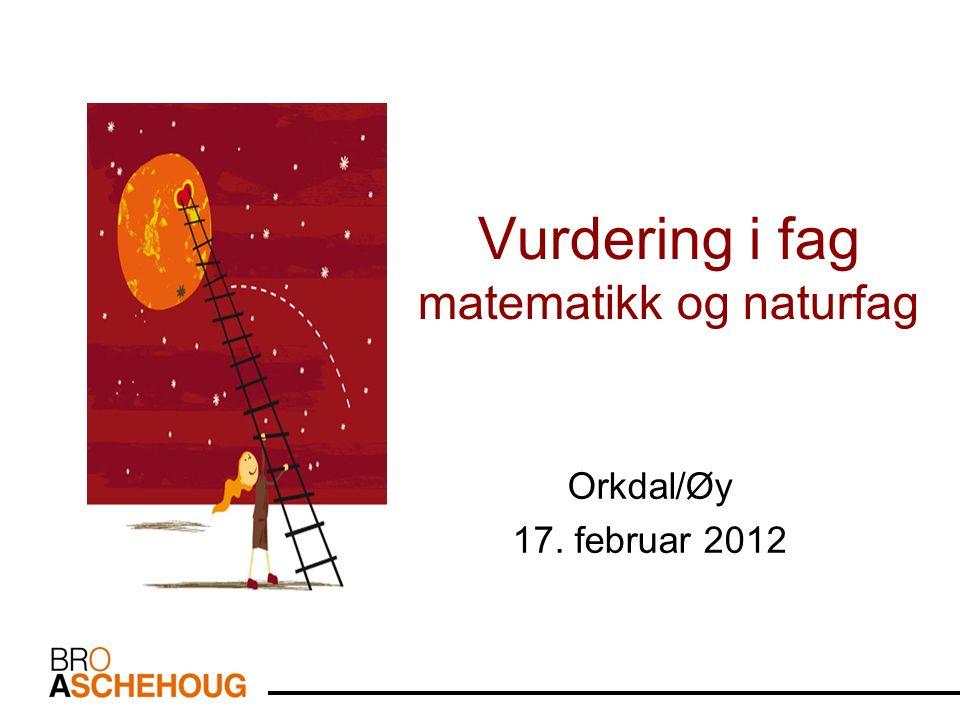 Vurdering i fag matematikk og naturfag Orkdal/Øy 17. februar 2012