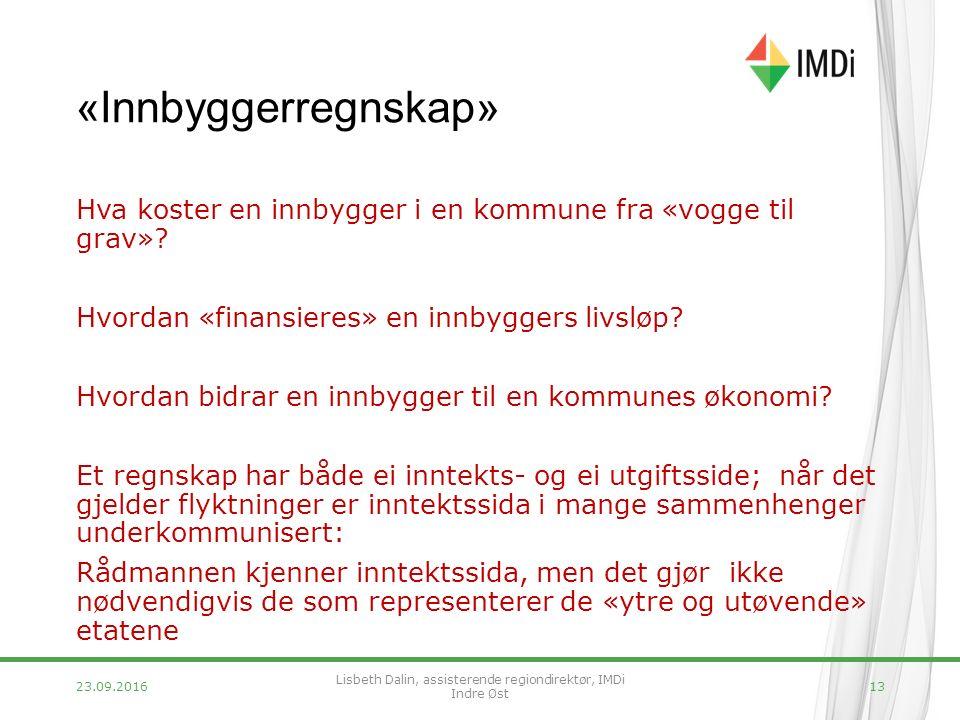 «Innbyggerregnskap» Hva koster en innbygger i en kommune fra «vogge til grav».
