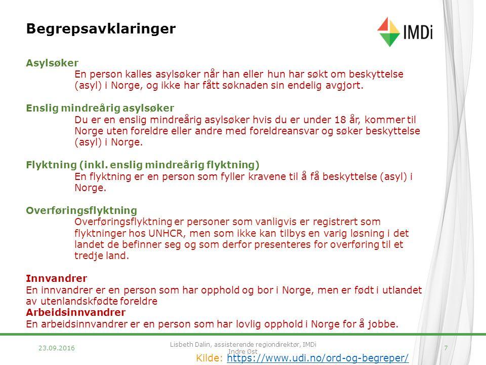 7 Begrepsavklaringer Asylsøker En person kalles asylsøker når han eller hun har søkt om beskyttelse (asyl) i Norge, og ikke har fått søknaden sin endelig avgjort.