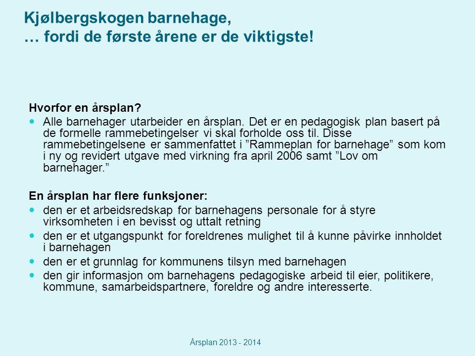 Kjølbergskogen barnehage, … fordi de første årene er de viktigste.